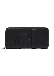 Calvin Klein embossed logo zip-around wallet