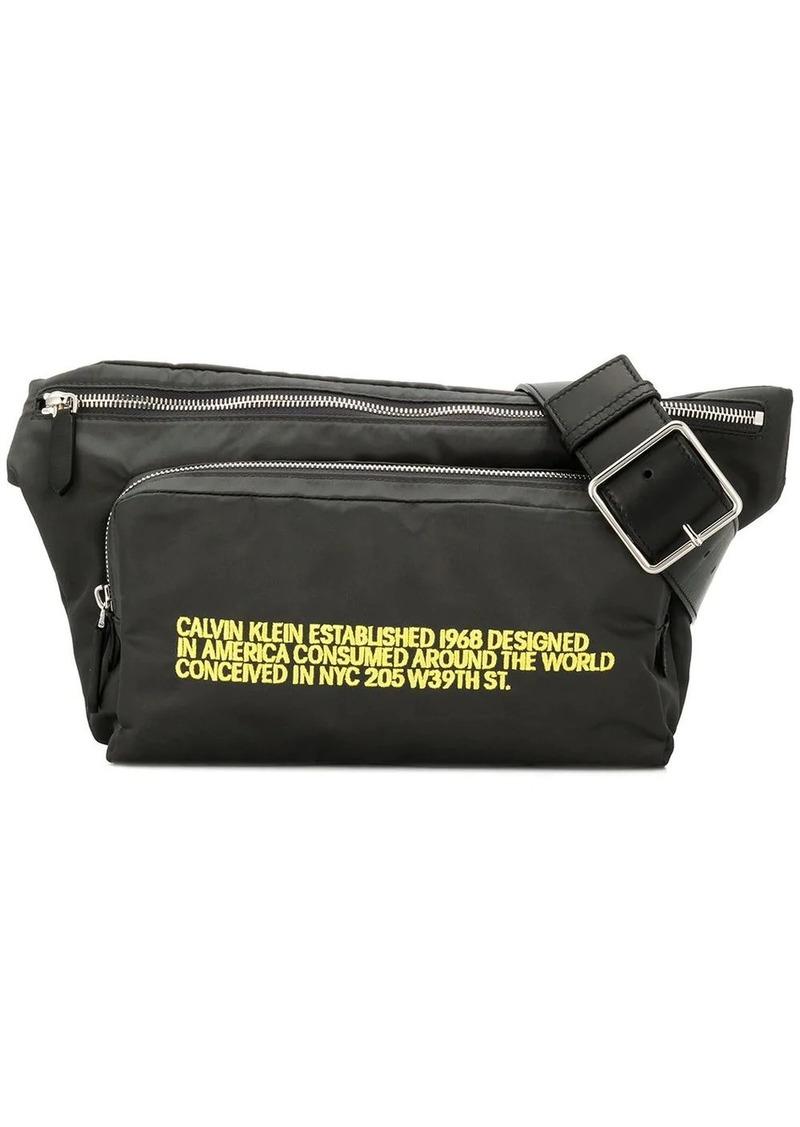 Calvin Klein embroidered belt bag