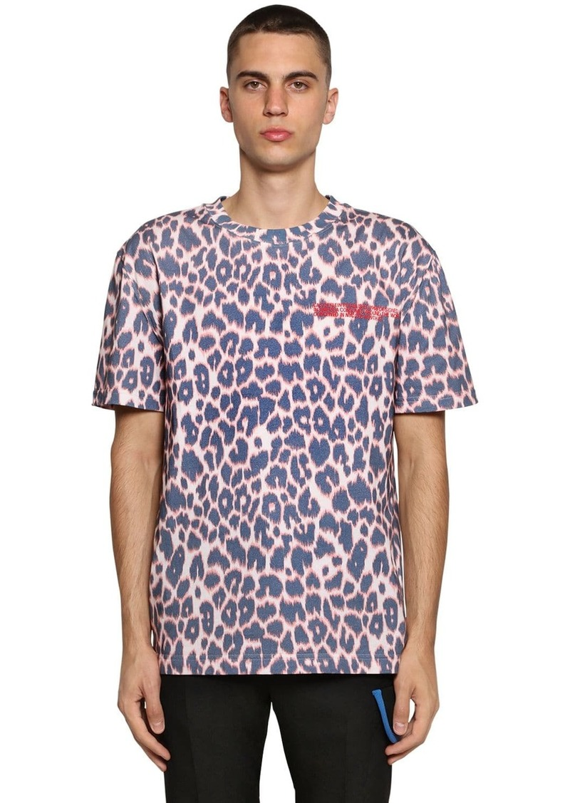 Calvin Klein Embroidered Cotton Jersey T-shirt
