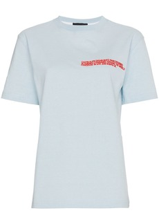 Calvin Klein embroidered cotton t shirt