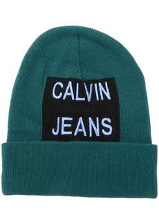 Calvin Klein embroidered logo beanie