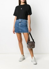 Calvin Klein embroidered logo denim mini skirt