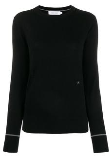 Calvin Klein embroidered logo knit sweater