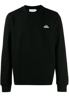 Calvin Klein embroidered logo patch sweatshirt