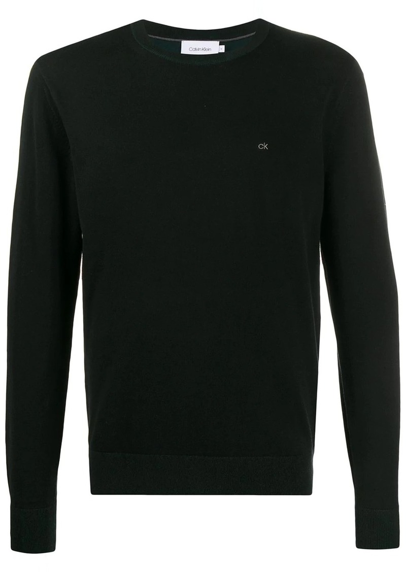 Calvin Klein embroidered logo regular-fit jumper