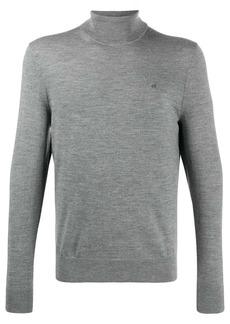 Calvin Klein embroidered logo turtleneck jumper