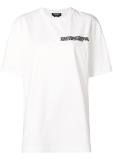 Calvin Klein embroidered statement T-shirt