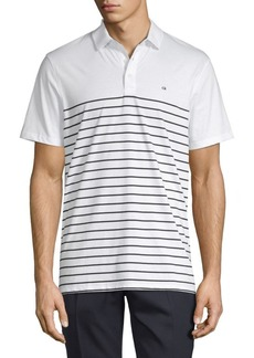 Calvin Klein Engineered Stripe Cotton Polo