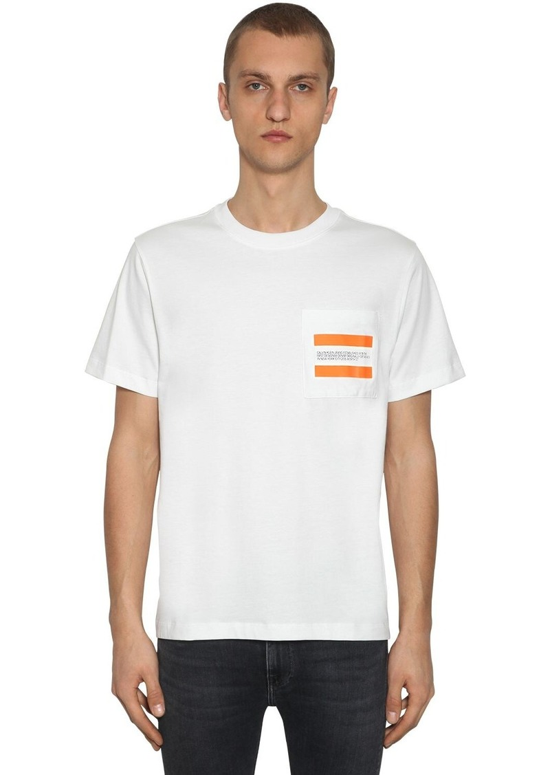Calvin Klein Est. 1978 Logo Pocket Cotton T-shirt