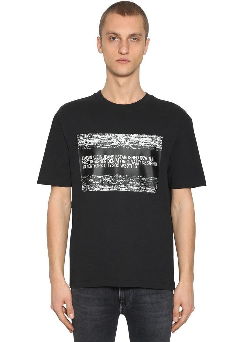 Calvin Klein Est. 1978 Logo Printed Cotton T-shirt