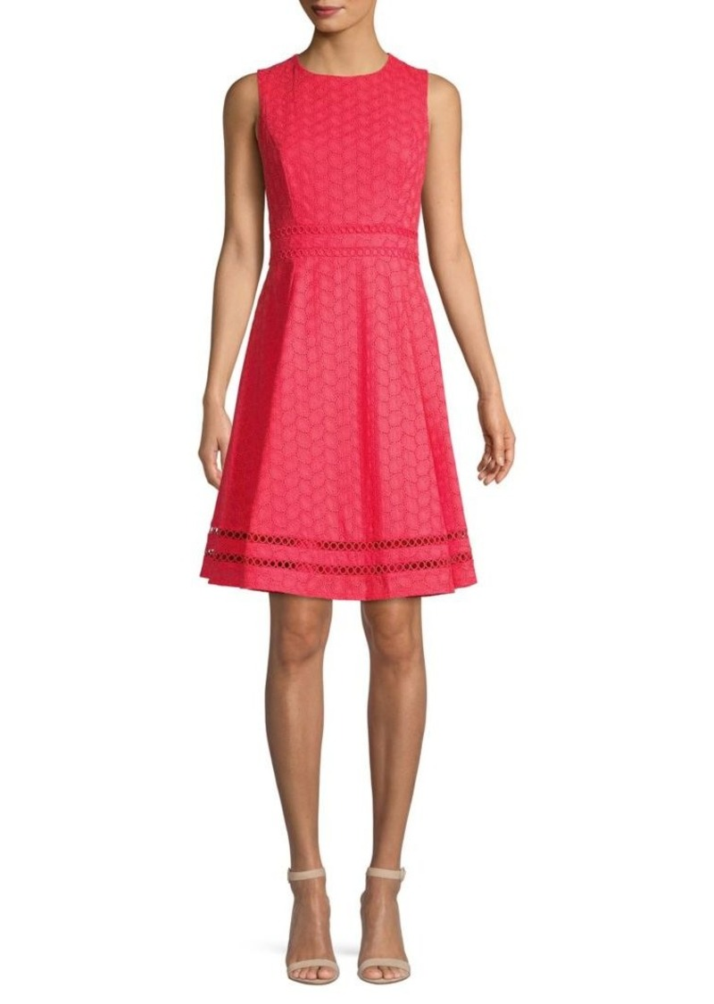 Calvin Klein Eyelet Fit-&-Flare Dress