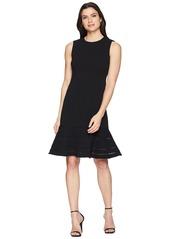 Calvin Klein Faggotting Trim A-Line Dress CD8C19MG