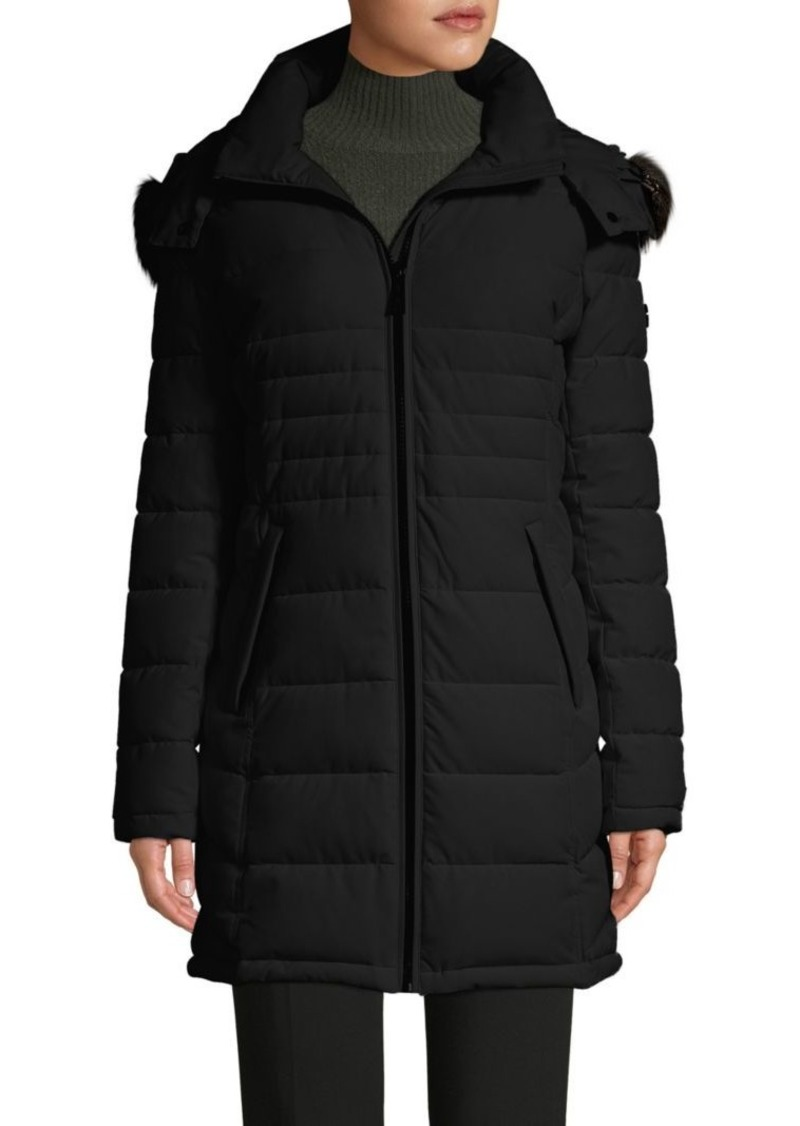 Calvin Klein Faux Fur Hooded Puffer Coat