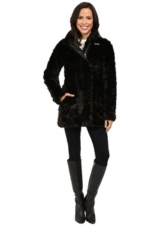 Calvin Klein Faux Fur with Buckle Collar Detail
