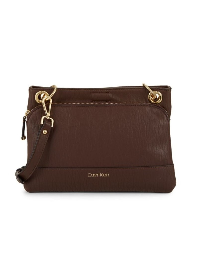 Calvin Klein Faux Leather Crossbody Bag