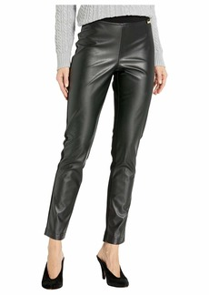 Calvin Klein Faux Leather Front Compression Leggings
