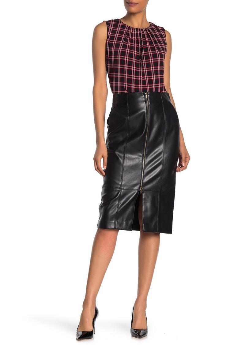 Calvin Klein Faux Leather Skirt