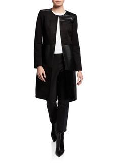 Calvin Klein Faux-Leather Topper Jacket