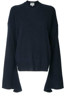 Calvin Klein fine knit flute sleeve sweater