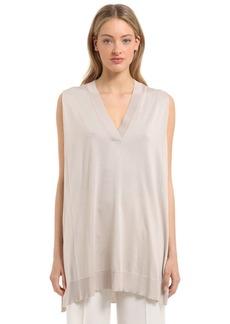 Calvin Klein Fine Silk Knit Sleeveless Top