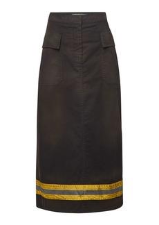 Calvin Klein Fireman Midi Skirt with Cotton