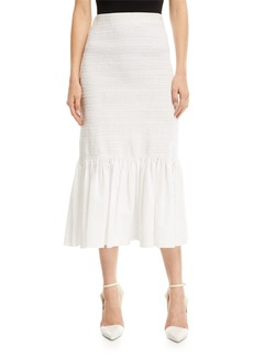 Calvin Klein Fitted Cotton Midi Skirt