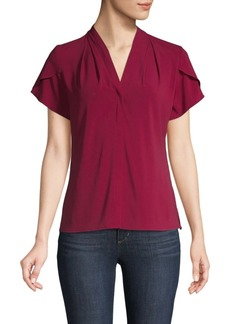 Calvin Klein Flapped-Shoulder V-neck Top