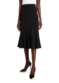 Calvin Klein Flare-Hem Midi Skirt