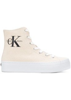 Calvin Klein flatform hi-top sneakers
