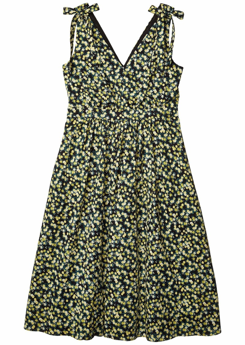 Calvin Klein Floral A-Line Dress with Shoulder Ties