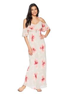 Calvin Klein Floral Chiffon Popover Maxi Dress CD8H27LD