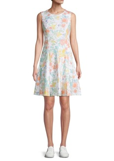 Calvin Klein Floral Fit-And-Flare Dress