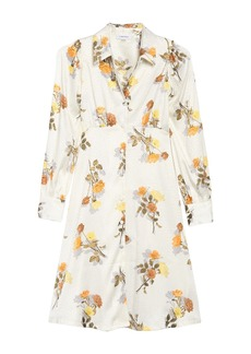 Calvin Klein Floral Jacquard Shirt Dress