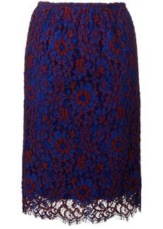 Calvin Klein floral lace midi skirt