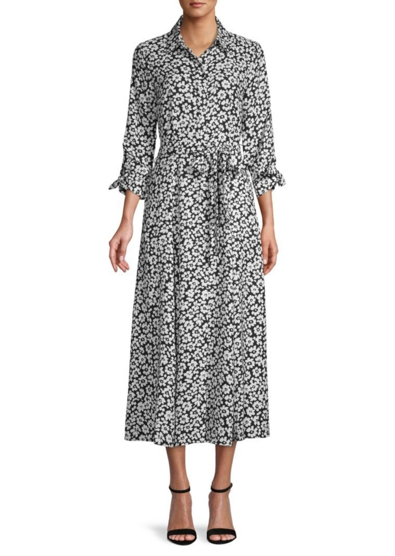 Calvin Klein Floral Midi Shirtdress