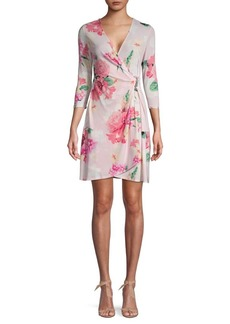 Calvin Klein Floral Mini Wrap Dress