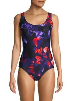 Calvin Klein Floral One-Piece Swimsuit