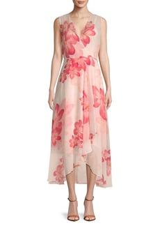 Floral-Print Hi-Lo Dress