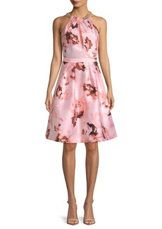 Floral-Print Knee-Length Dress