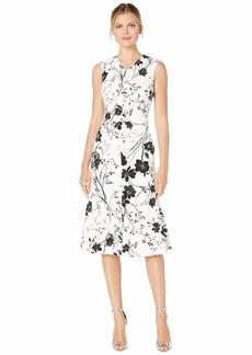 Calvin Klein Floral Print Midi Dress