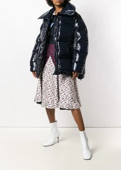 Calvin Klein floral print mix skirt
