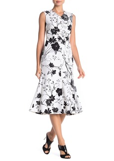 Calvin Klein Floral Flared Hem Midi Dress