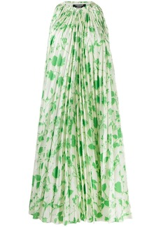Calvin Klein floral-print pleated dress