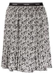 Calvin Klein floral-print pleated skirt