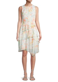 Calvin Klein Floral-Print Sleeveless A-Line Dress