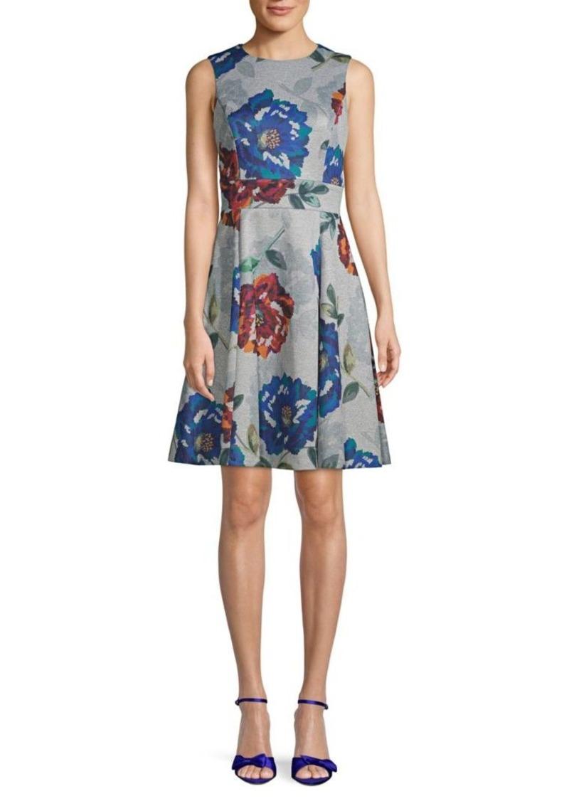 Calvin Klein Floral-Print Sleeveless Dress