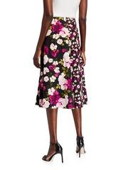 Calvin Klein Floral-Print Wrapped Midi Skirt