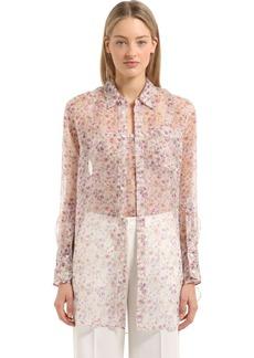 Calvin Klein Floral Printed Silk Shirt