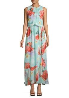 Calvin Klein Floral Ruffle Maxi Dress