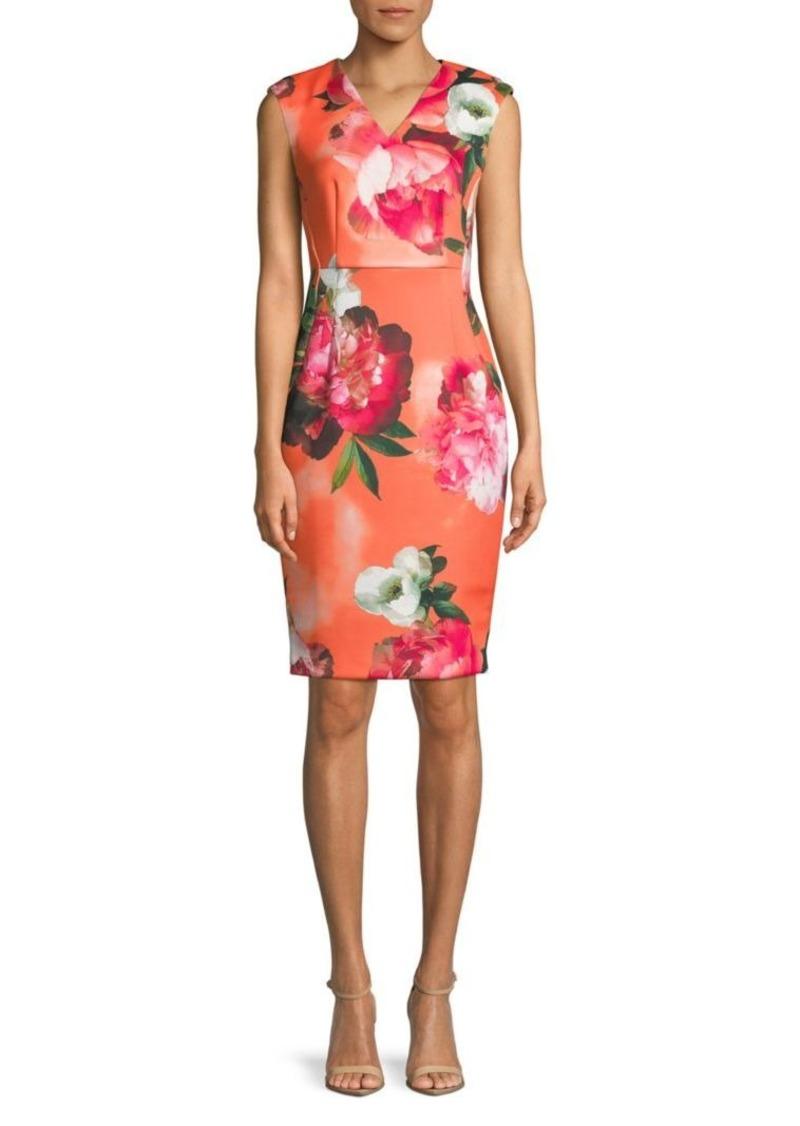 ab9391b0 On Sale today! Calvin Klein Floral Sheath Dress